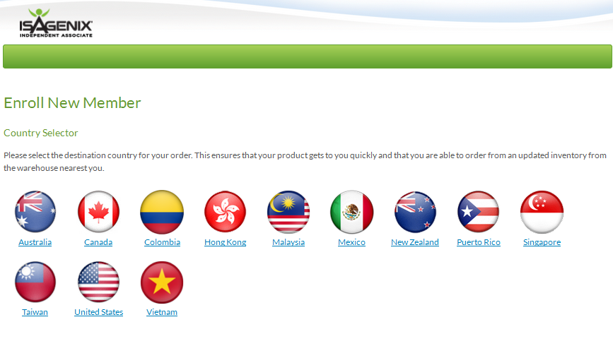 Isagenix countries